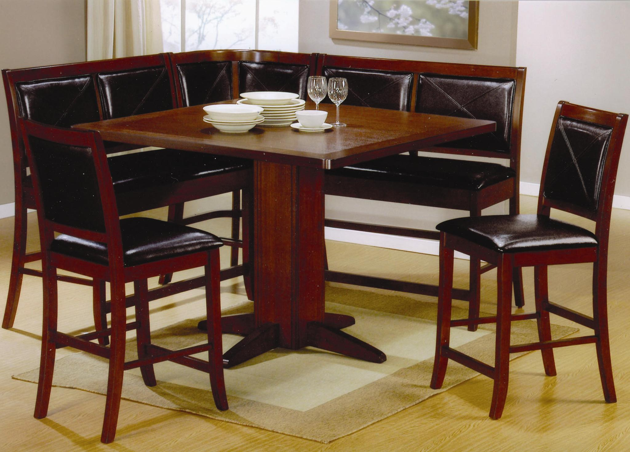 kitchen table benches Coaster Lancaster 6 Piece Counter Height Dining Set Coaster Fine Furniture
