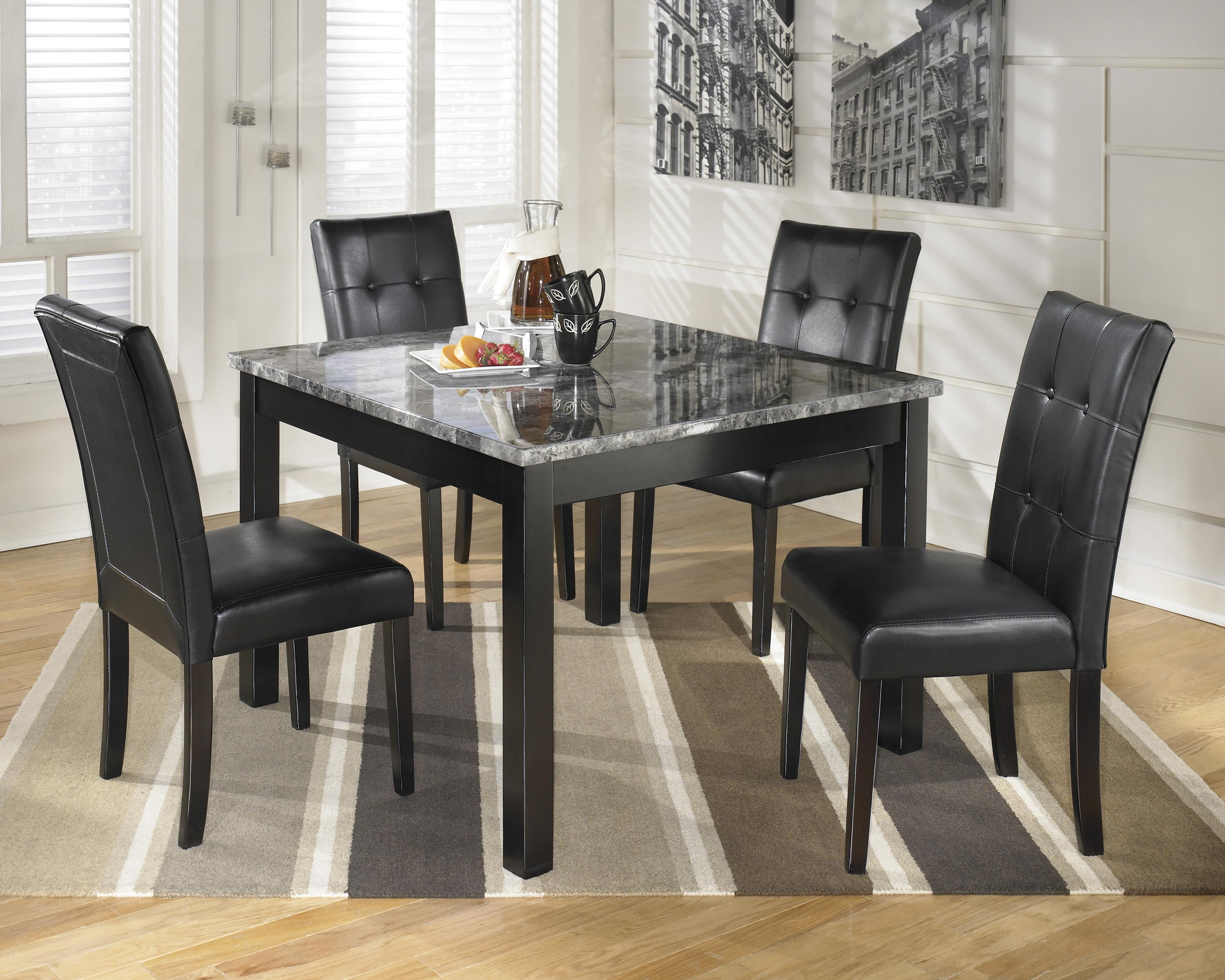 square kitchen table Signature Design by Ashley Furniture Maysville Square Dining Room Table Set Item Number D