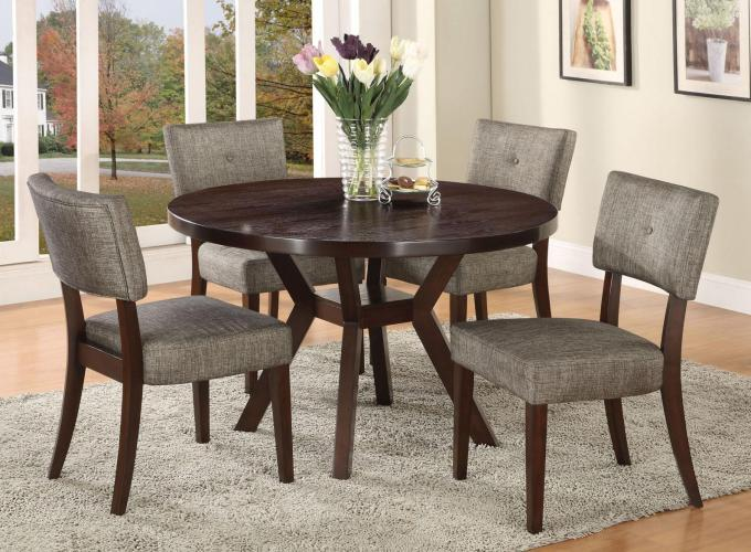 kitchen table chairs set Acme Furniture Drake Espresso 5 Piece Dining Set Item Number
