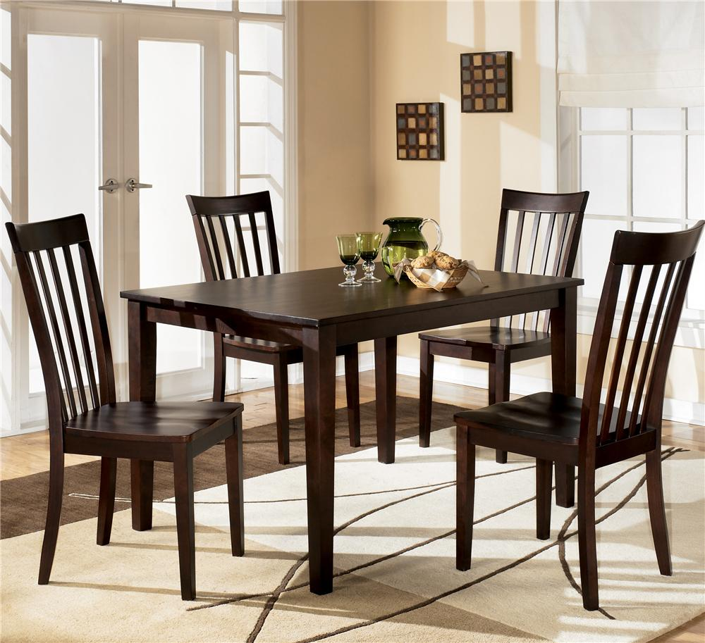 chairs for kitchen table Ashley Furniture Hyland Rectangular Dining Table with 4 Chairs Item Number D