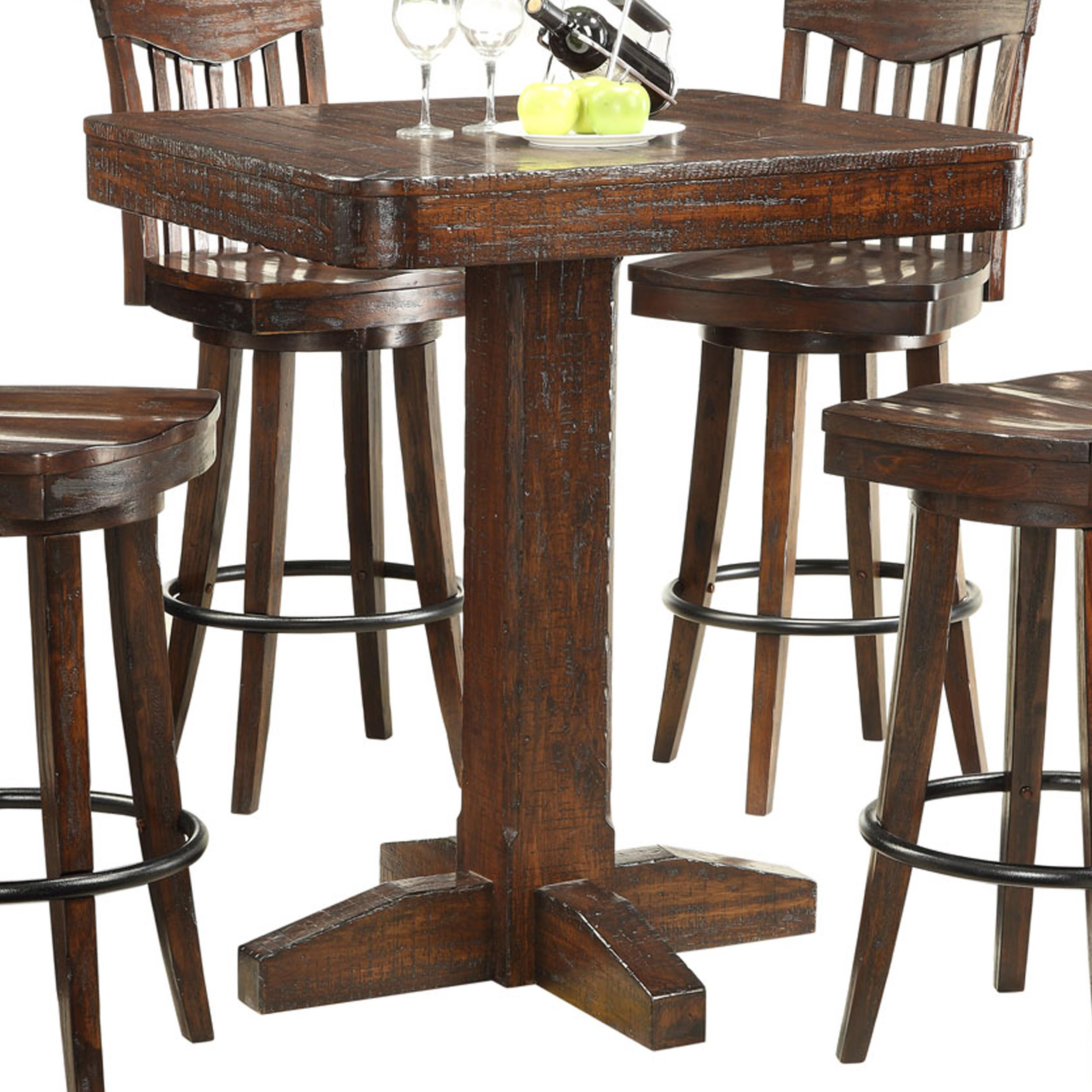 bar height kitchen table E C I Furniture Gettysburg Bar Height Dining Table Item Number 05 PT36