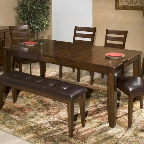 solid wood kitchen tables Belfort Select Cabin Creek Dining Table with Butterfly Leaf Item Number KA TA