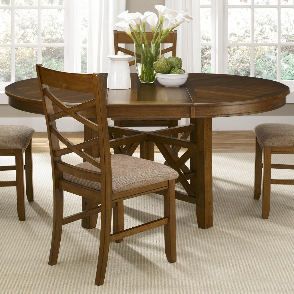 kitchen table with leaf Liberty Furniture Applewood Oval Pedestal Dining Table Item Number 64 P T