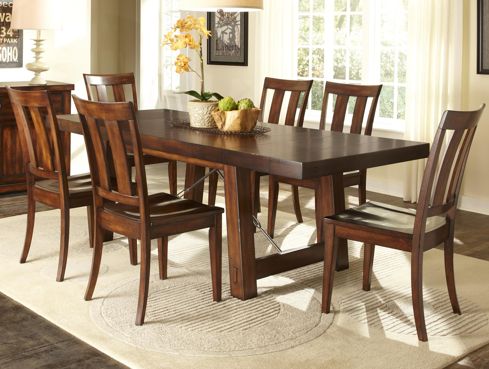 kitchen table chairs set Liberty Furniture Tahoe 7 Piece Dining Table Set Item Number CD