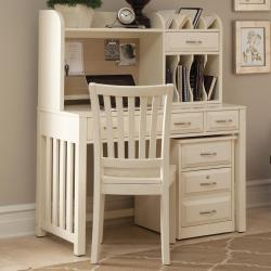 Small Crop Of White Desk With Hutch