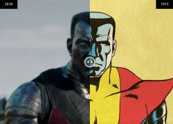Compare Deadpool movie characters to the comics