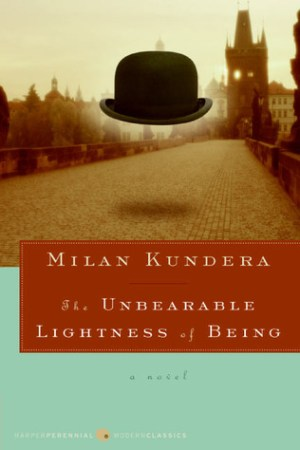Reading books The Unbearable Lightness of Being