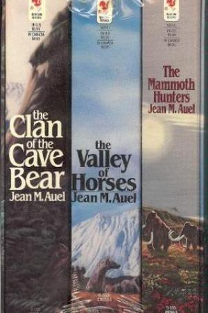 Reading books Clan of the Cave Bear, The Valley of Horses, The Mammoth Hunters (Earth's Children, #1-3)