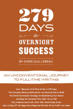 Reading books 279 Days to Overnight Success: An Unconventional Journey to Full-Time Writing