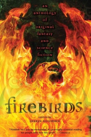 Reading books Firebirds: An Anthology of Original Fantasy and Science Fiction