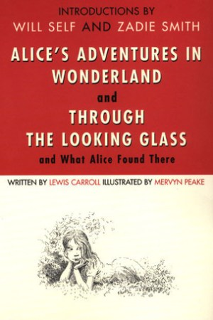 Reading books Alice's Adventures in Wonderland and Through the Looking Glass