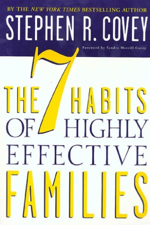 Reading books The 7 Habits of Highly Effective Families