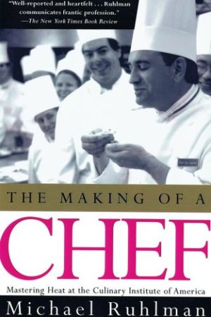 Reading books The Making of a Chef: Mastering Heat at the Culinary Institute of America