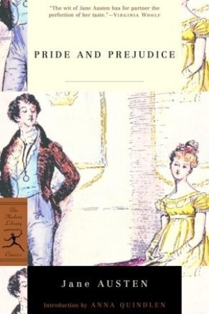 Reading books Pride and Prejudice