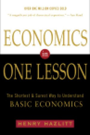 Reading books Economics in One Lesson: The Shortest & Surest Way to Understand Basic Economics