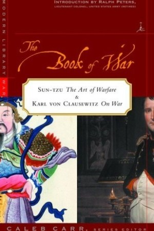 Reading books The Book of War: Sun-tzu The Art of Warfare & Karl von Clausewitz On War