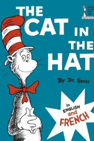 Reading books The Cat in the Hat in English and French (Beginner Books(R))