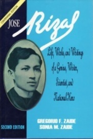 Reading books Jos Rizal: Life, Works, and Writings of a Genius, Writer, Scientist, and National Hero