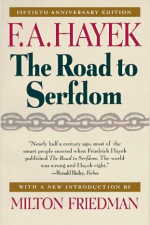 Reading books The Road to Serfdom