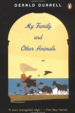 Reading books My Family and Other Animals (Corfu Trilogy, #1)