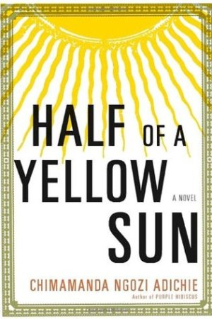 Reading books Half of a Yellow Sun