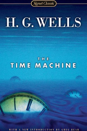 Reading books The Time Machine