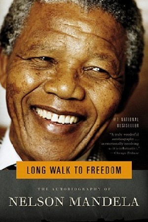 Reading books Long Walk to Freedom