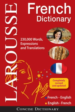 Reading books Larousse Concise French-English/English-French Dictionary