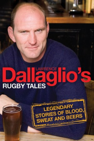 Reading books Dallaglio's Rugby Tales