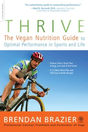 Reading books Thrive: The Vegan Nutrition Guide to Optimal Performance in Sports and Life