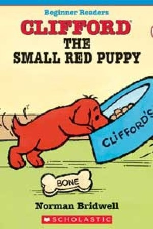 Reading books Clifford The Small Red Puppy