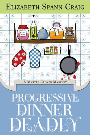 Reading books Progressive Dinner Deadly (Myrtle Clover Cozy Mysteries #2)