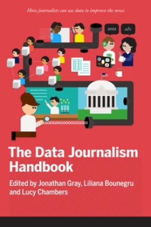Reading books The Data Journalism Handbook