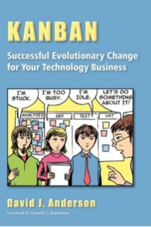 Reading books Kanban: Successful Evolutionary Change for Your Technology Business