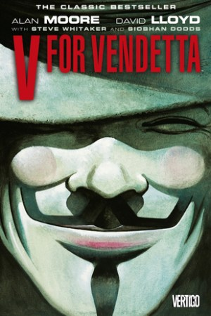 Reading books V for Vendetta