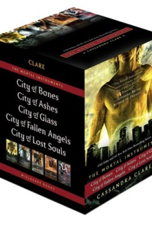 City of Bones / City of Ashes / City of Glass / City of Fallen Angels / City of Lost Souls (The Mortal Instruments, #1-5)