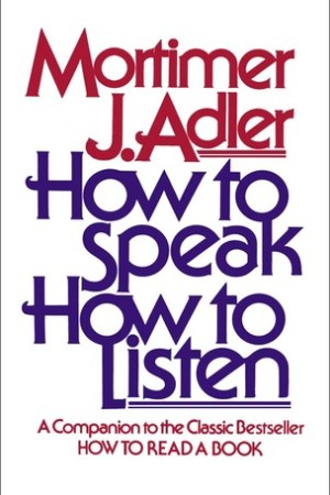 Reading books How to Speak How to Listen