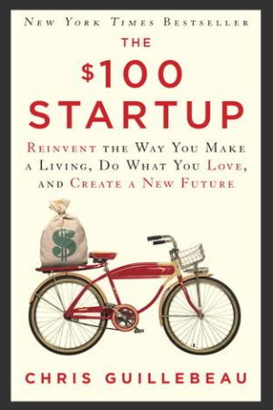 Reading books The $100 Startup: Reinvent the Way You Make a Living, Do What You Love, and Create a New Future