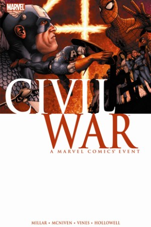Reading books Civil War: A Marvel Comics Event