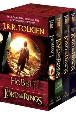 Reading books J.R.R. Tolkien 4-Book Boxed Set: The Hobbit and The Lord of the Rings