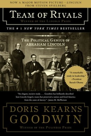 Reading books Team of Rivals: The Political Genius of Abraham Lincoln