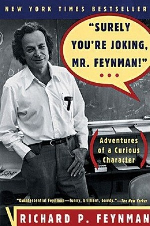 Reading books Surely You're Joking, Mr. Feynman!: Adventures of a Curious Character
