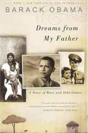 Reading books Dreams from My Father: A Story of Race and Inheritance