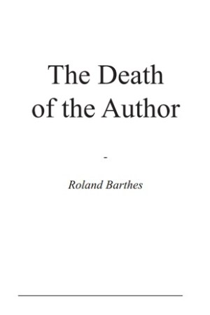 Reading books The Death of the Author