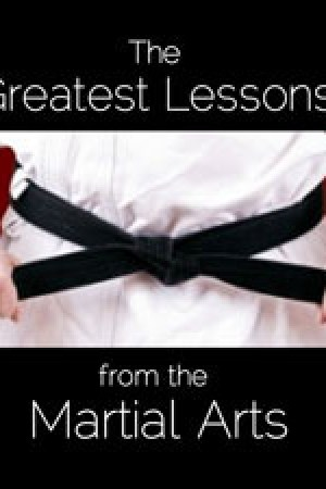 Reading books Greatest Lessons from the Martial Arts