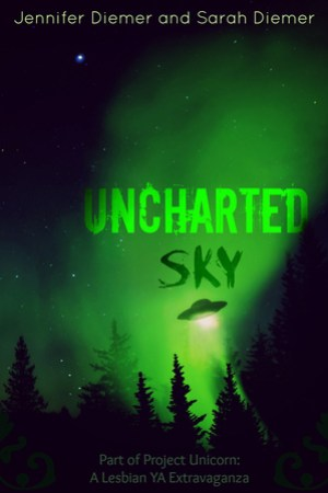 Reading books Uncharted Sky: A Lesbian YA Short Story Collection