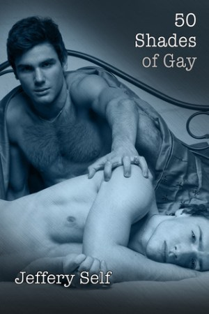 Reading books 50 Shades of Gay