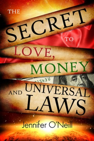 Reading books The Secret to Love, Money and The Universal Laws