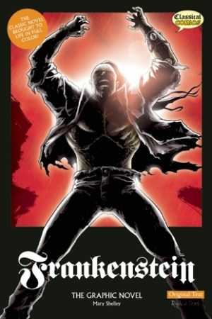 Reading books Frankenstein The Graphic Novel: Original Text