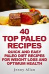 40 Top Paleo Recipes: Quick and Easy Paleo Diet Recipes for Weight Loss and Optimum Health